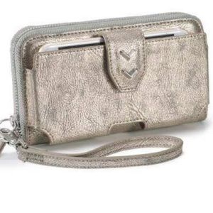 Stella & Dot Madison Tech Wallet Metallic